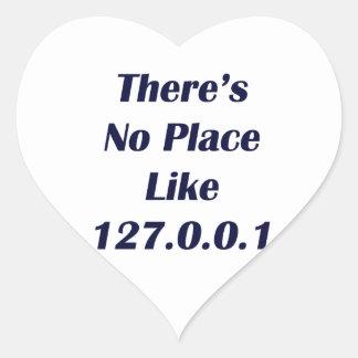 No hay lugar como 127001 pegatina en forma de corazón