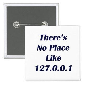 No hay lugar como 127001 pin cuadrada 5 cm
