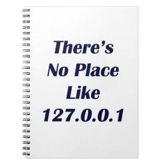 No hay lugar como 127001 spiral notebook