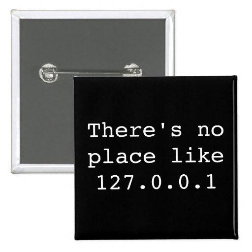 No hay lugar como 127.0.0.1 pin cuadrada 5 cm