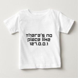 No hay lugar como 127.0.0.1 playera de bebé