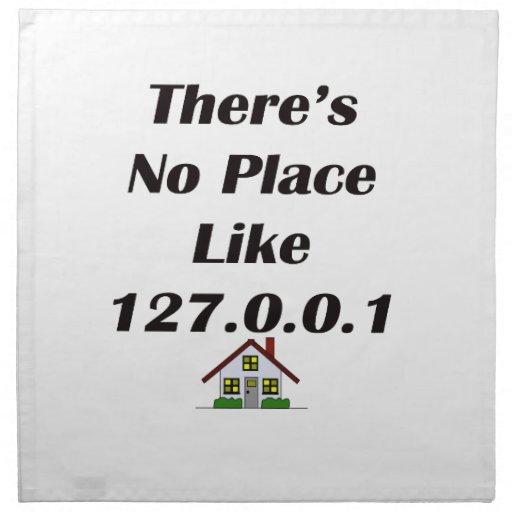 No hay lugar como el negro con la casa servilletas de papel