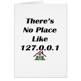 No hay lugar como el negro con la casa tarjeta de felicitación