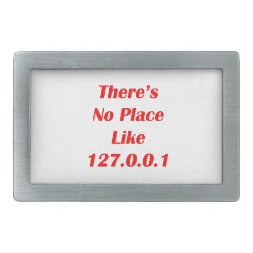 No hay lugar como el rojo 127001 hebilla de cinturón rectangular