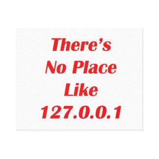 No hay lugar como el rojo 127001 impresión en lienzo