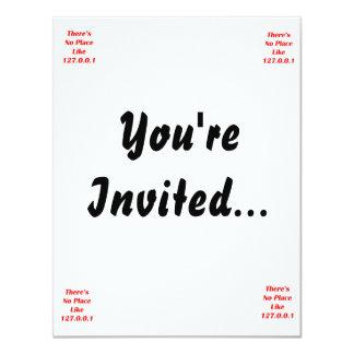 No hay lugar como el rojo 127001 invitación 10,8 x 13,9 cm