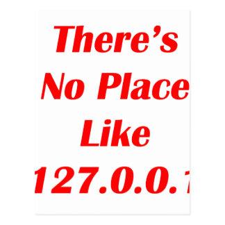 No hay lugar como el rojo 127001 postal