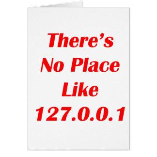 No hay lugar como el rojo 127001 tarjeta pequeña