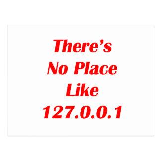 No hay lugar como el rojo 127001 postales