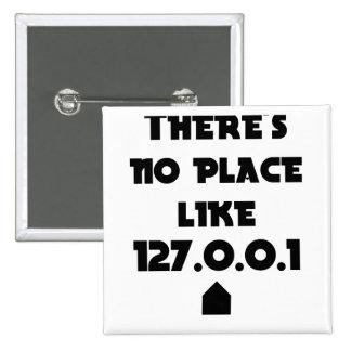 No hay lugar como hogar pin cuadrado