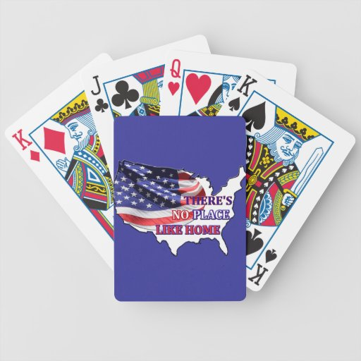 No hay lugar como los naipes caseros cartas de juego