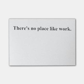 No hay lugar como trabajo notas post-it®