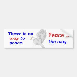 No hay manera a la paz pegatina de parachoque