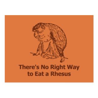 No hay manera correcta de comer un macaco de la postal