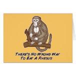 No hay manera incorrecta de comer un macaco de la  tarjetón