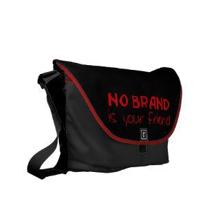 No hay marca su lema del anti-consumerist del amig bolsas de mensajería