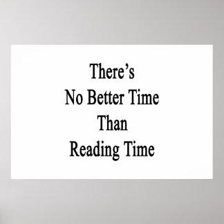 No hay mejor hora que tiempo de la lectura póster