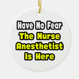 No hay miedo, el Anesthetist de la enfermera aquí Ornamentos Para Reyes Magos