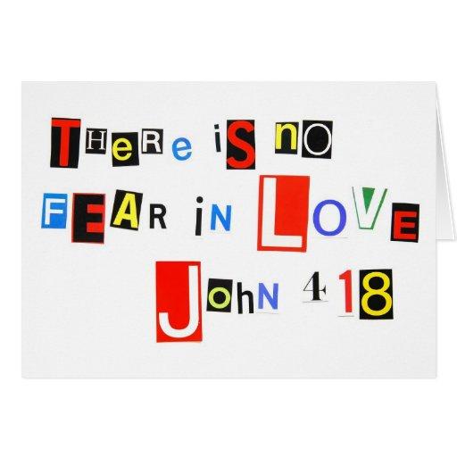No hay miedo en amor felicitacion