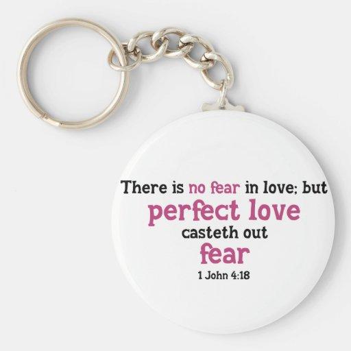 No hay miedo en amor llavero redondo tipo pin