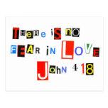 No hay miedo en amor postales