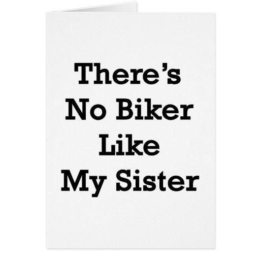 No hay motorista como mi hermana tarjeta
