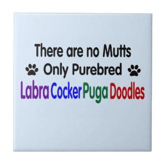 No hay Mutts. Regalo político correcto del perro Tejas Cerámicas