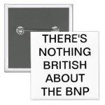 No hay nada británico sobre el botón del BNP Pin