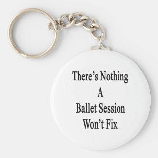 No hay nada que una sesión del ballet no fijará llavero redondo tipo pin