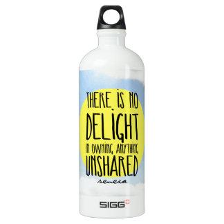 """""""No hay placer en la posesión cualquier cosa Botella De Agua"""