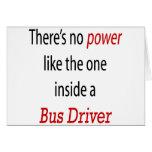 No hay poder como el un interior al conductor del  felicitación