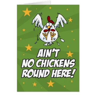 No hay pollos redondos aquí tarjeta de felicitación