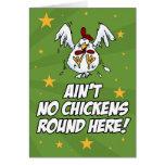 No hay pollos redondos aquí tarjetas