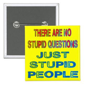 No hay preguntas estúpidas pin