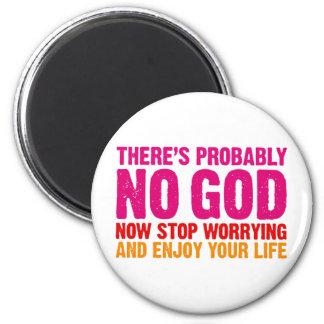 No hay probablemente dios ahora para el preocupar imanes