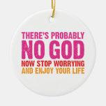 No hay probablemente dios ornaments para arbol de navidad