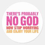 No hay probablemente dios etiquetas redondas