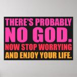 No hay probablemente dios. Poster