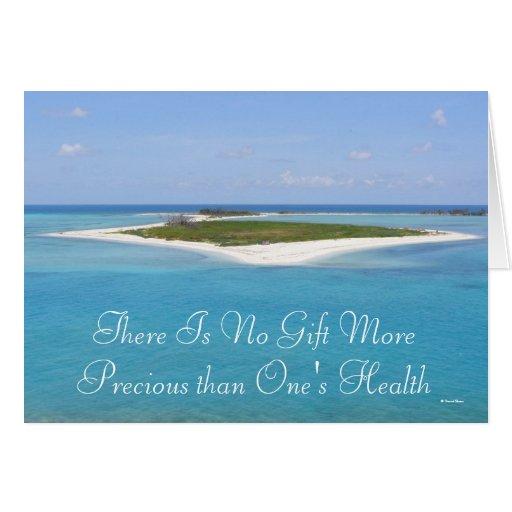 No hay regalo más precioso que su salud tarjeta