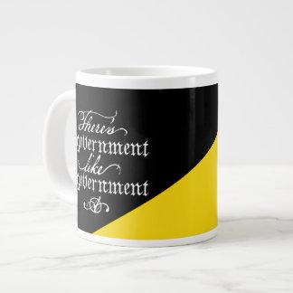 No hay taza del jumbo del gobierno tazas jumbo