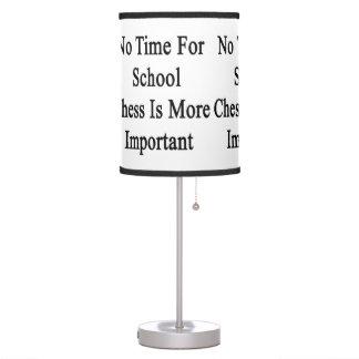 No hay tiempo para el ajedrez de la escuela más