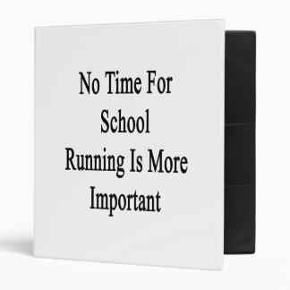 No hay tiempo para el funcionamiento de la escuela
