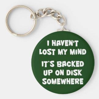 No he perdido mi mente llavero redondo tipo pin