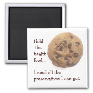 No Health Food Magnet