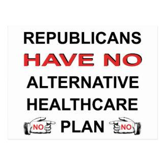NO HEALTHCARE PLAN POSTCARDS