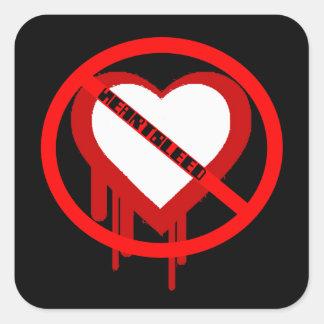 No Heartbleed Square Sticker