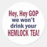 No Hemlock Tea Classic Round Sticker