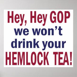 No Hemlock Tea Poster