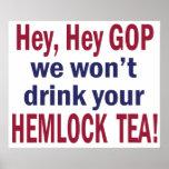 No Hemlock Tea Posters