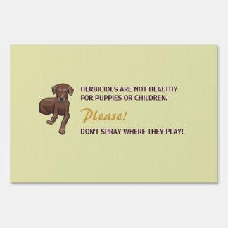 """""""No Herbicides"""" Yard Sign"""
